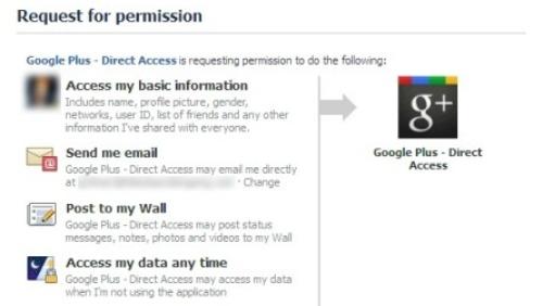 Inviti Google Plus: falsa applicazione Facebook per entrare
