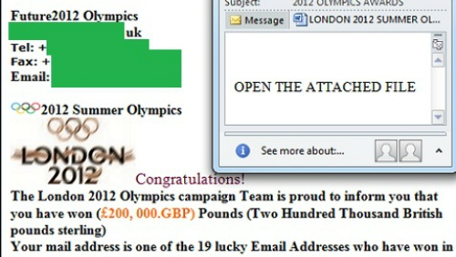 Olimpiadi 2012: attenti allo spam